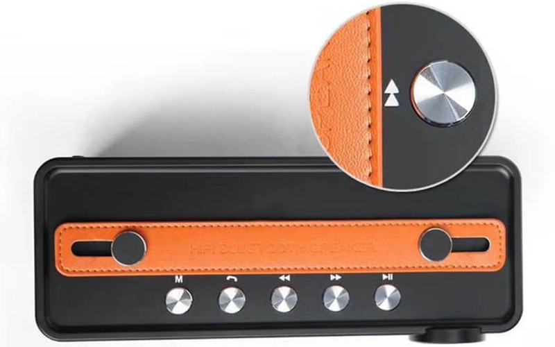 loa bluetooth w-king x10 công suất 25w, âm bass cực hay - phím tùy chỉnh