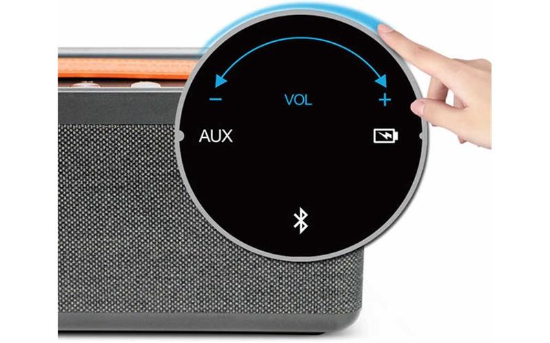 loa bluetooth w-king x10 công suất 25w, âm bass cực hay - nút volume