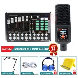 combo sound card mkai h9 micro thu am alc 280 chính hãng
