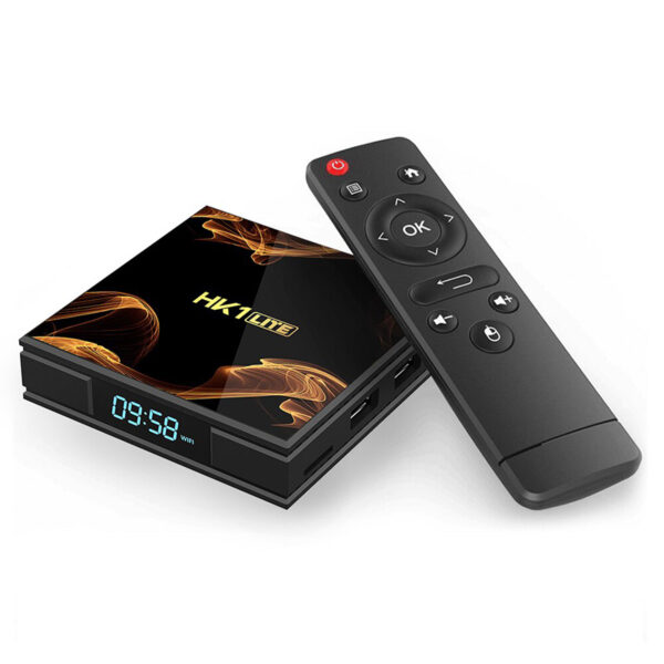 android tv box hk1 lite giá rẻ ram 2gb, rom 16gb, chạy android 9.0