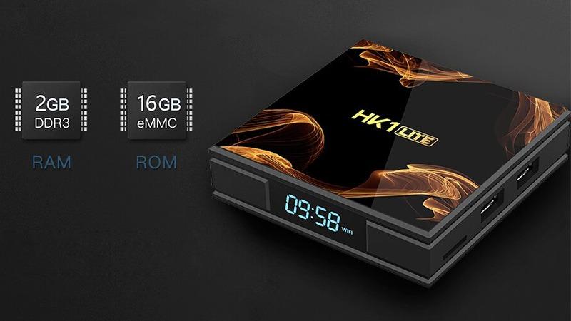 android tv box hk1 lite giá rẻ ram 2gb, rom 16gb chính hãng