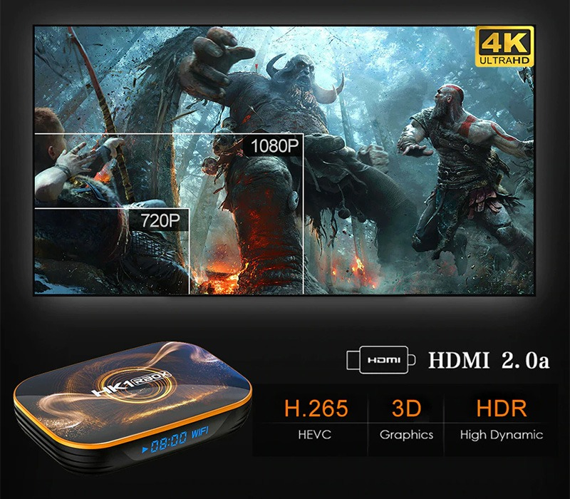 android tv box hk1 rbox ram 2gb giá rẻ, android 10 mới nhất 2020 - xem phim 4k