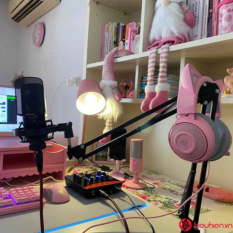 lắp đặt hướng dẫn khách sử dụng bộ soundcard icon upod pro + mic thu âm takstar pc k850