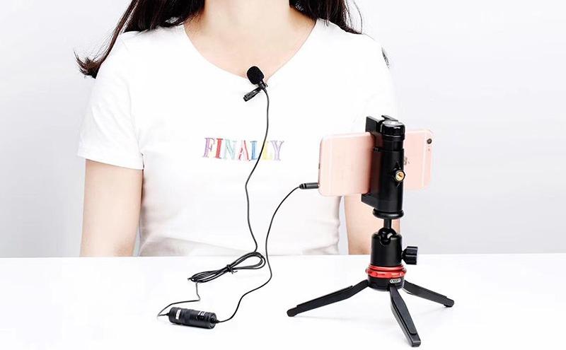 micro cài áo boya by-m1 - mic thu âm cho điện thoại và máy ảnh, máy quay - hát live