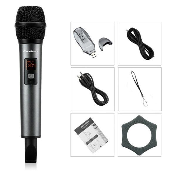 Micro Karaoke không dây Excelvan K18V chính hãng - hình 03