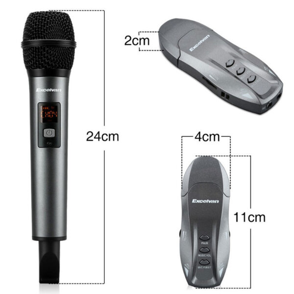 Micro Karaoke không dây Excelvan K18V chính hãng - hình 04