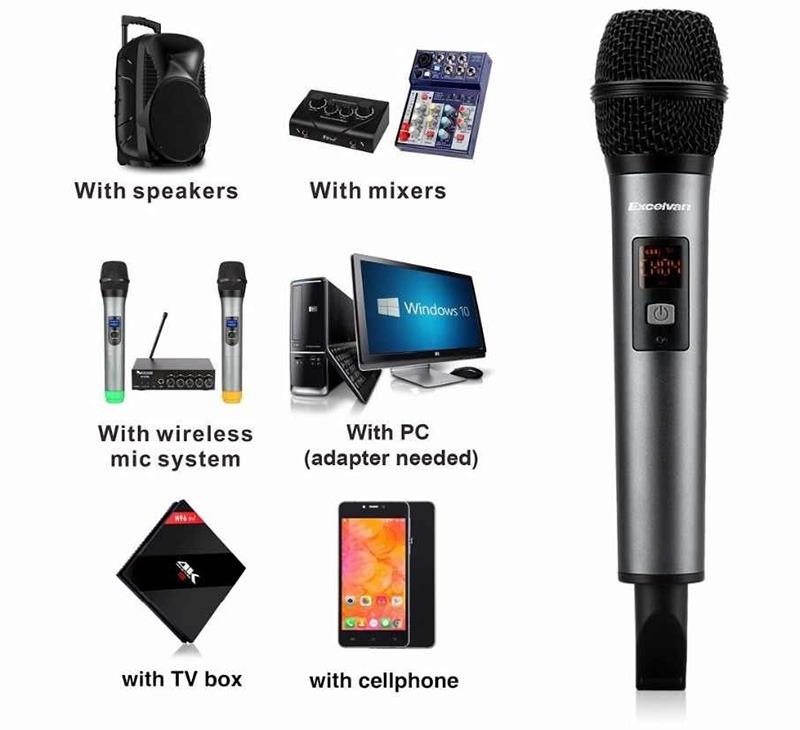 Micro Karaoke không dây Excelvan K18V chính hãng - hình 07