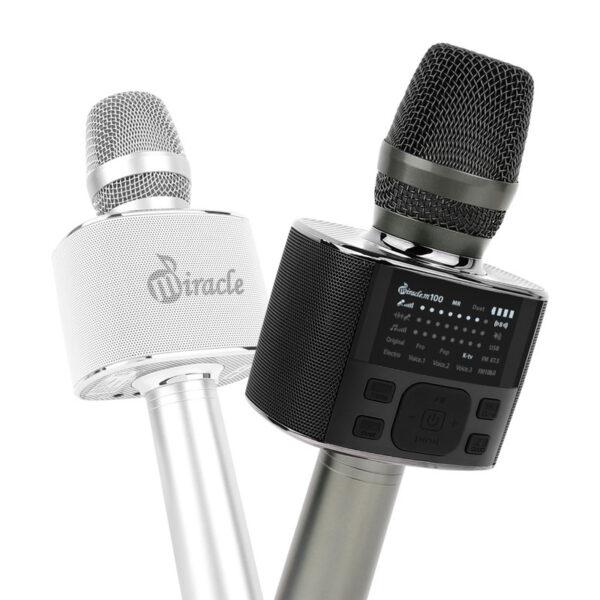 miracle m100 - micro karaoke bluetooth cao cấp hàn quốc - màu trắng và màu đen