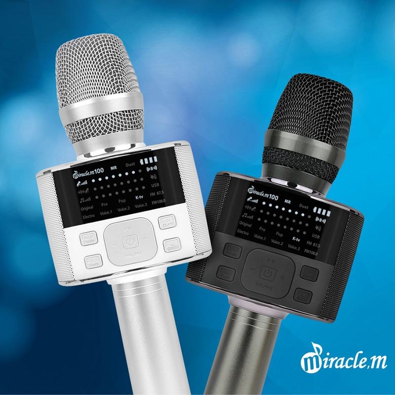 miracle m100 - micro karaoke bluetooth cao cấp hàn quốc, hát cực hay - có 2 màu trắng và đen