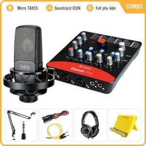 Combo Micro Takstar TAK55 + Icon Upod Pro Sound Card Thu âm Livestream
