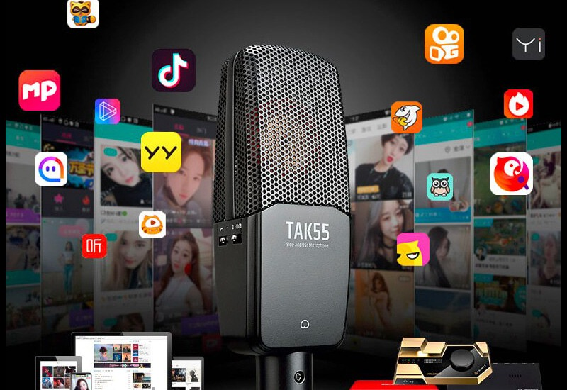 combo micro cao cấp takstar tak55 + Sound card icon upod pro - chuyên thu âm, hát Livestream, karaoke online - hình 07