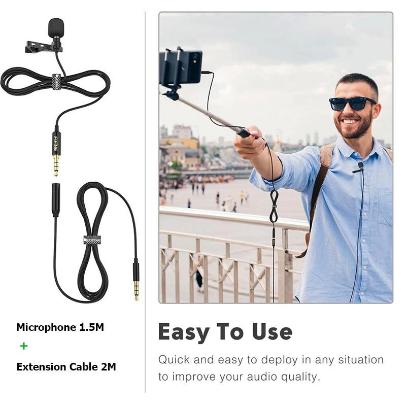 mic cài đầu cài ve áo fifine c1 - micro thu âm cho điện thoại và máy ảnh dslr, máy tính laptop