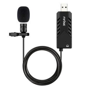 fifine k053 - micro thu âm cài áo chuyên dụng cho máy tính pc, laptop