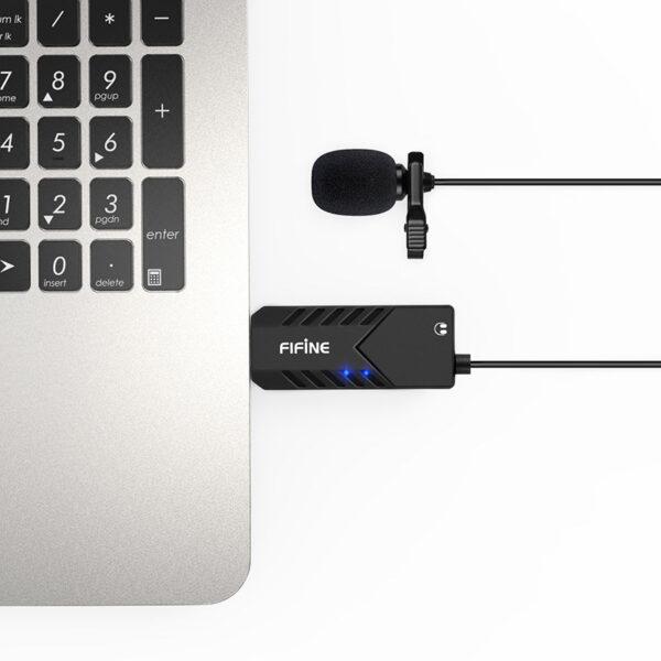 fifine k053 - micro thu âm cài áo chuyên dụng cho máy tính pc, laptop - kết nối dễ dàng
