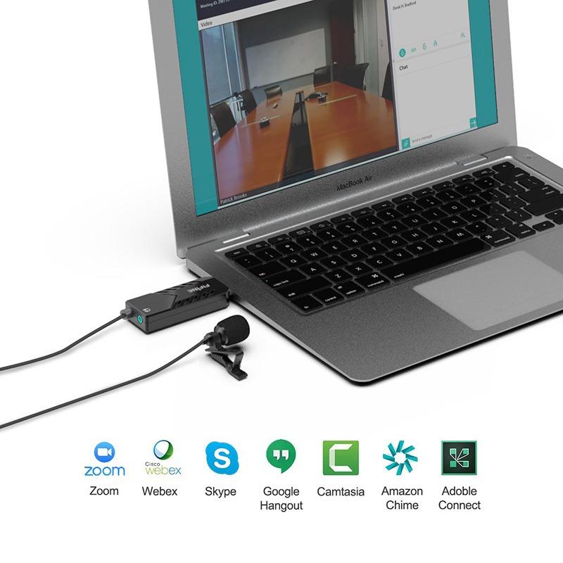 fifine k053 - micro thu âm cài áo chuyên dụng cho máy tính pc, laptop hỗ trợ trò truyện, ghi âm bài giảng