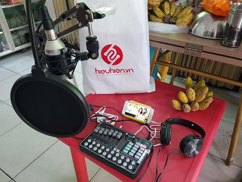 hình ảnh lắp đặt bộ thu âm tại nhà cho khách TpHCM