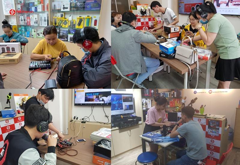 khách hàng trải nghiệm và mua combo micro thu âm tại hieuhien.vn - hình 01