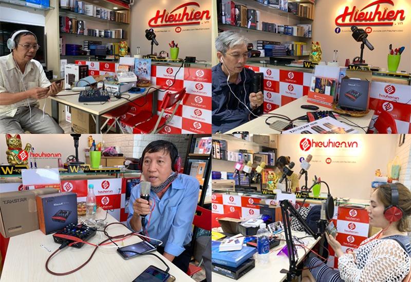 khách hàng trải nghiệm và mua combo micro thu âm tại hieuhien.vn - hình 02