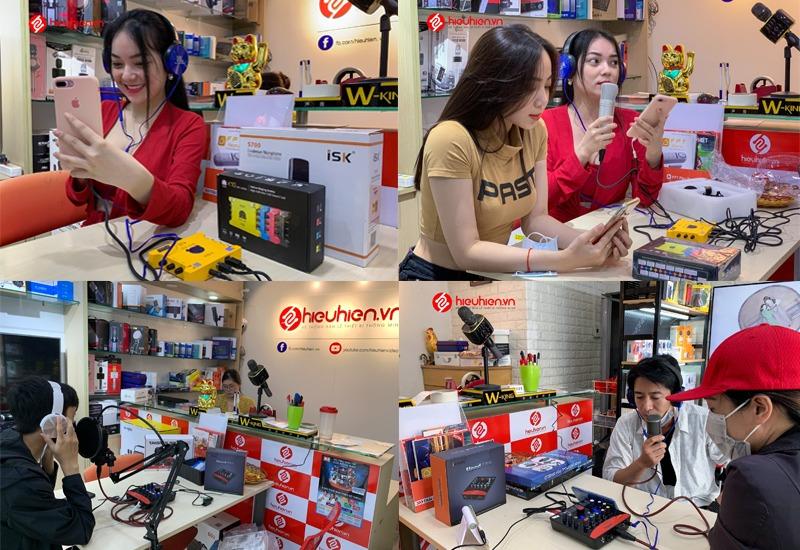 khách hàng trải nghiệm và mua combo micro thu âm tại hieuhien.vn - hình 03