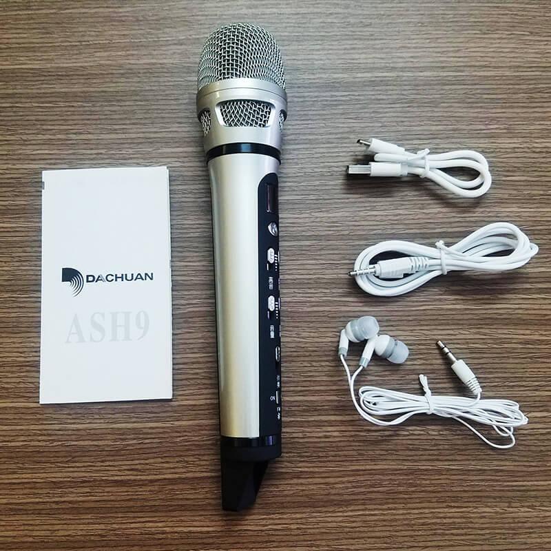 micro hát karaoke trên ô tô xe hơi dachuan ash9 - trọn bộ sản phẩm