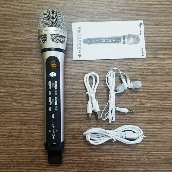 dachuan ash9 - micro hát karaoke trên ô tô xe hơi - trọn bộ sản phẩm