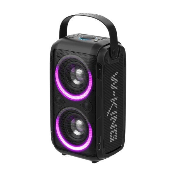 loa karaoke di động w-king t9 - loa ngoài trời công suất cao 80w, đèn led rgb