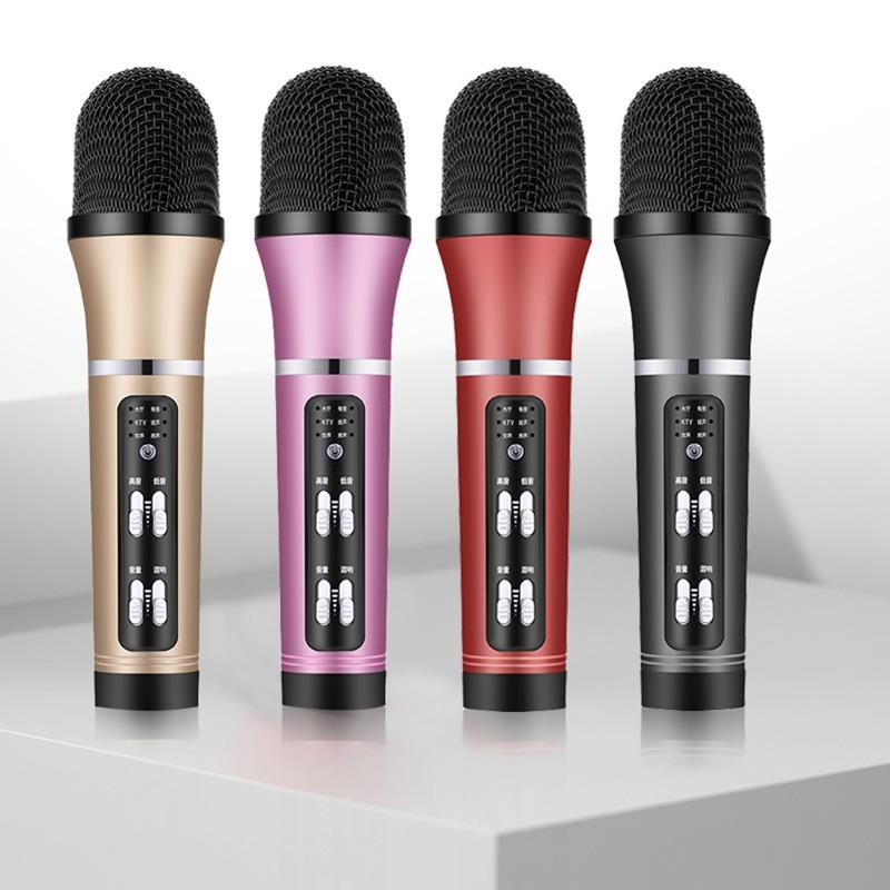 mic thu âm livestream c25 giá rẻ - có 4 màu - vàng hồng đỏ đen