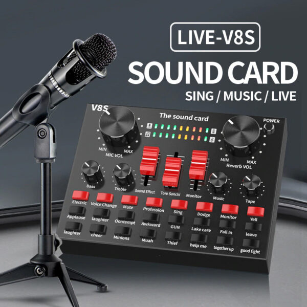 sound card v8s bluetooth - thu âm hát live stream giá rẻ