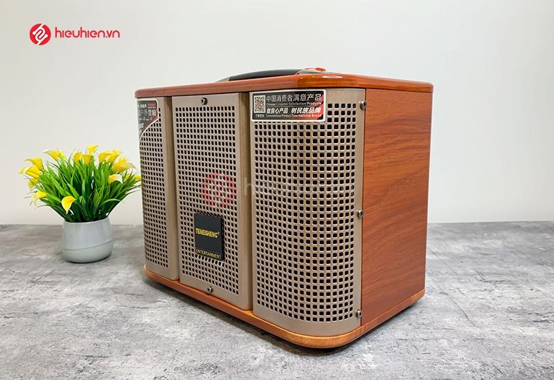 Loa Di Động TemeiSheng GD0639 - Kiểu dáng nhỏ gọn, dùng karaoke, nghe nhạc tặng kèm 2 micro