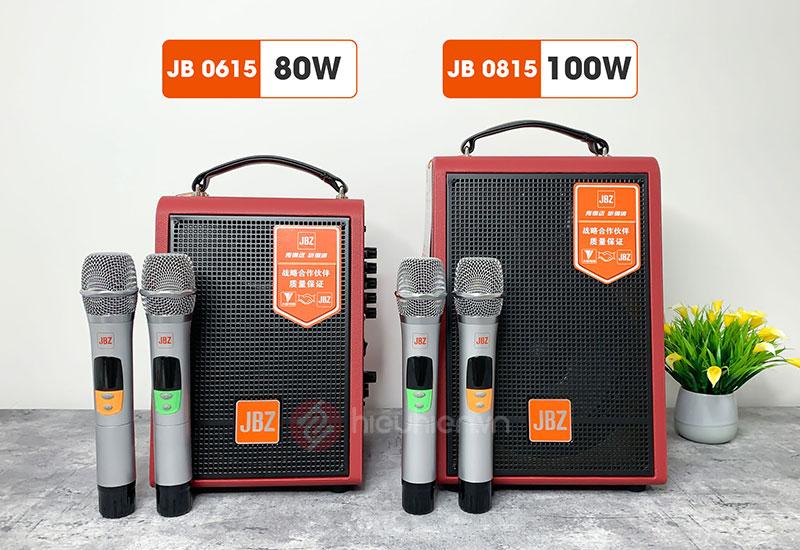 Loa Karaoke Bluetooth Xách Tay JBZ 0615 - 0815 với công xuất 80W dến 100W
