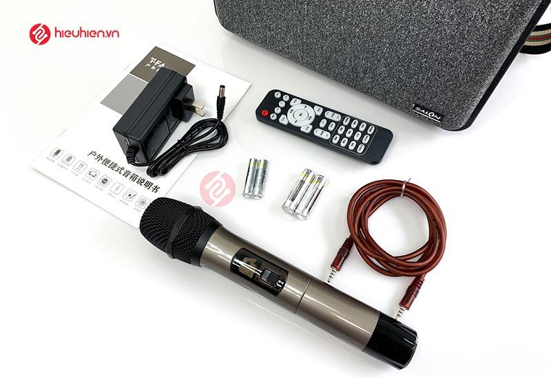 Loa Karaoke Xách Tay SALON S600 Trọn bộ sản phẩm, đầy đủ phụ kiện