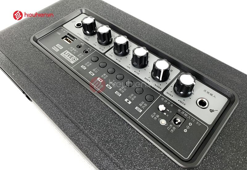 mạch công xuất và các cổng kết nối, điều chỉnh trên Loa Karaoke Xách Tay SALON S600