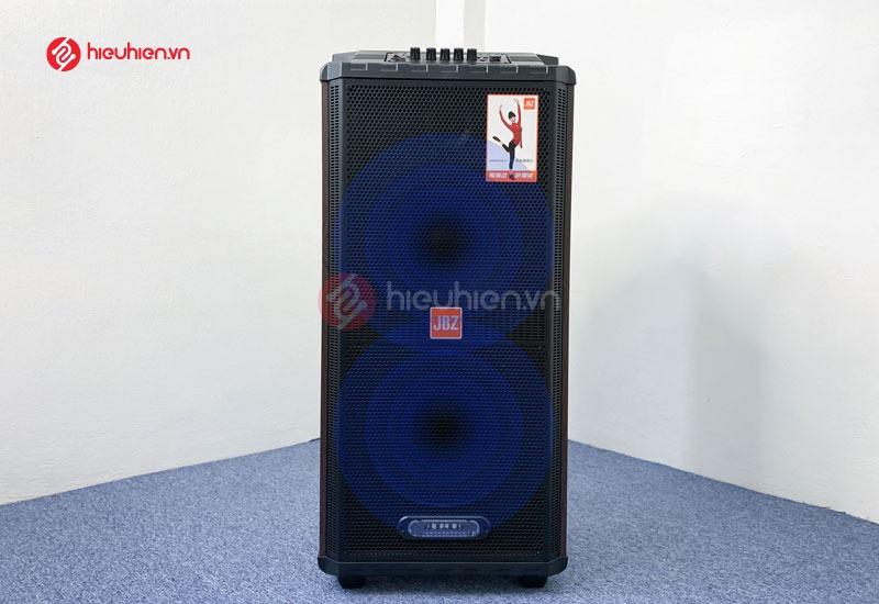Thiết kế nổi bật với cụm Bass đôi uy lực trên loa kéo JBZ 1012 với công xuất 160W
