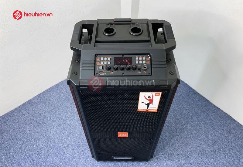 phần trên loa Loa kéo Di Động JBZ 1012 là là bản mạch điều chỉnh âm thanh