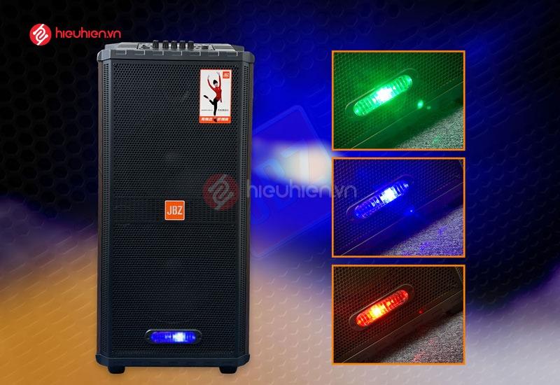 Loa kéo Di Động JBZ 1012 tích hợp đèn led 7 màu nhấp nhấp theo nhạc