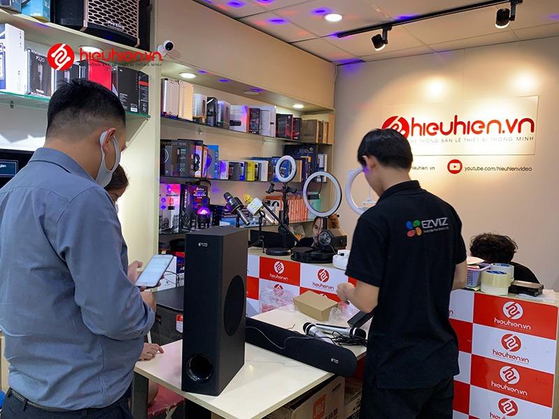 mua loa soundbar karaoke kiwi hk01 chính hãng tại hieuhien.vn - khách hàng trải nghiệm