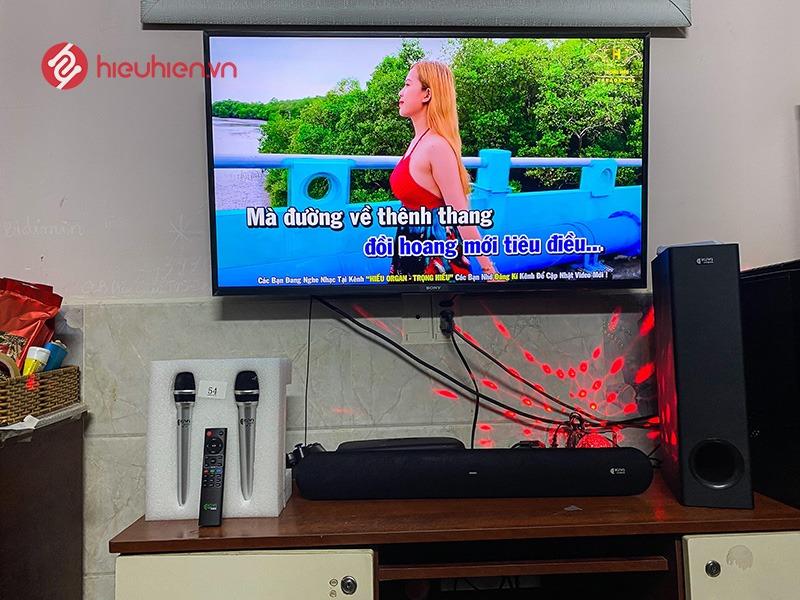 kiwi hk01 loa soundbar karaoke - lắp đặt trực tiếp tại nhà khách hàng