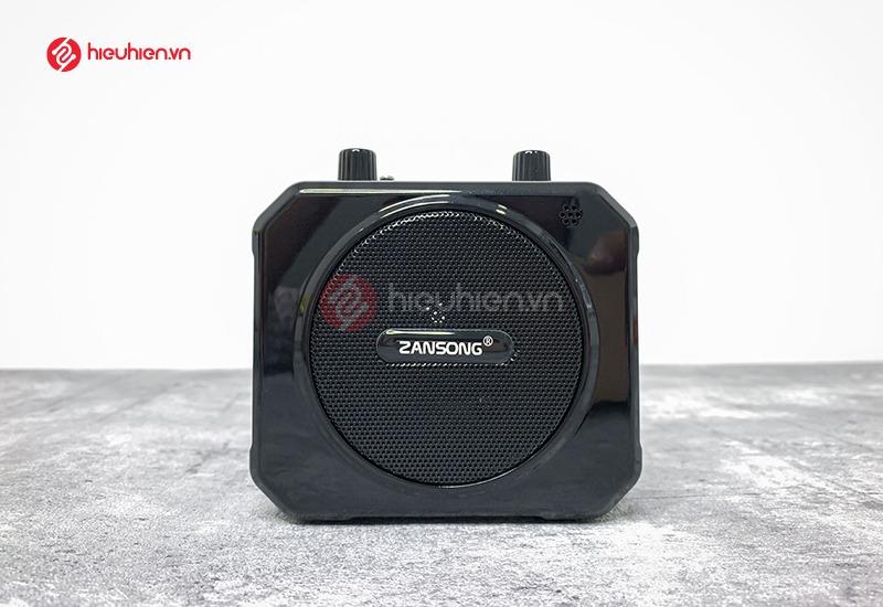 mặt trước loa Zansong M80 là bộ loa có công xuất 10W, cho âm thanh rõ ràng