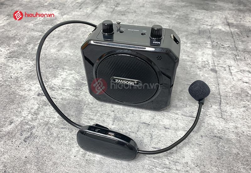 Máy trợ giảng Zansong M80 kèm micro không dây, kẹp tai với độ hút âm cao