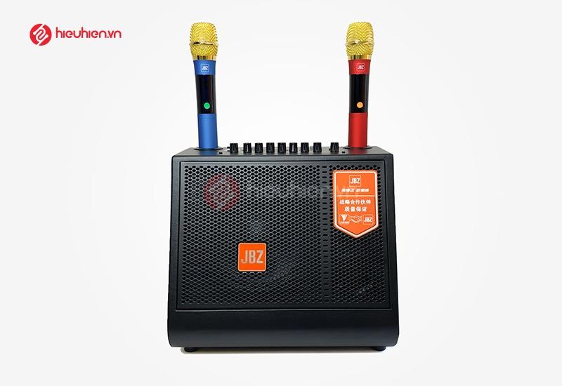 loa karaoke xách tay JBZ 0816 tặng kèm 2 micro chống hú