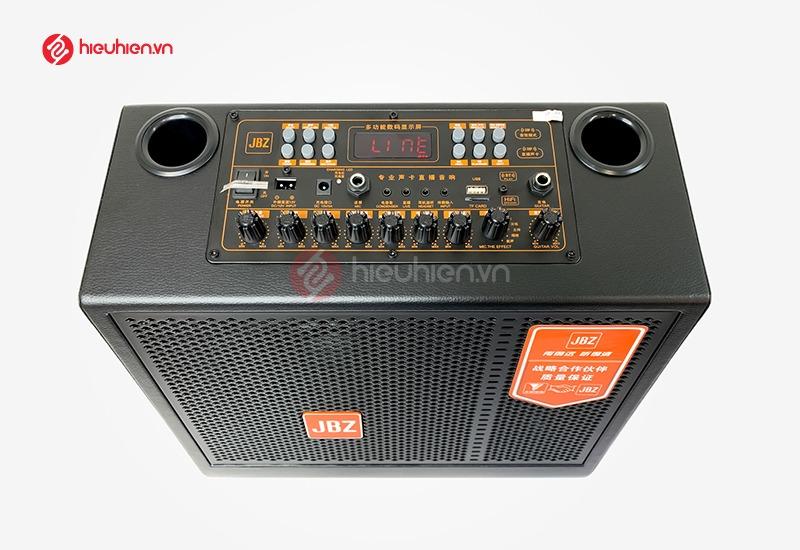 bo công suất loa karaoke xách tay JBZ 0816, tích hợp chức năng livestream