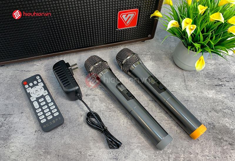 top 10 loa karaoke giá rẻ hay và tốt nhất hiện nay - loa sengyou t8 kèm 2micro