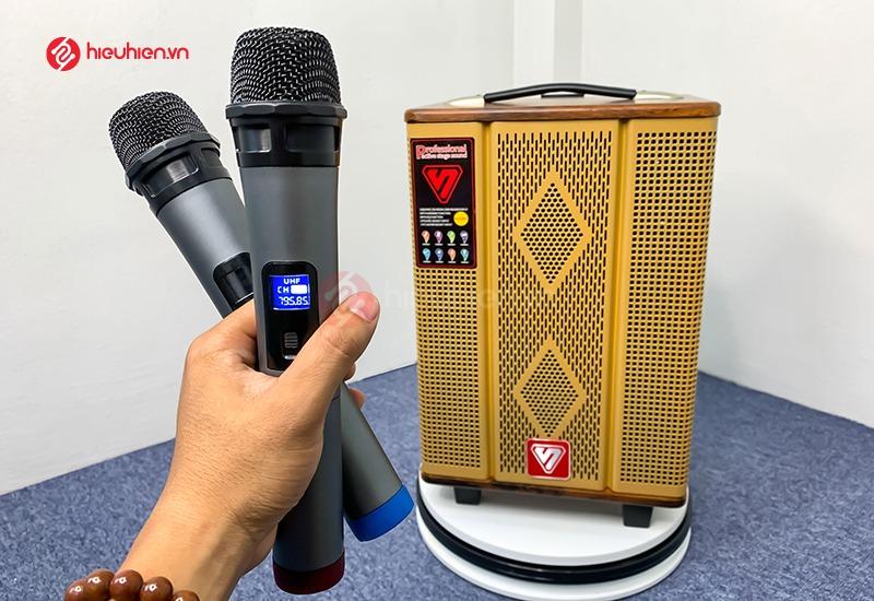 top 10 loa karaoke giá rẻ hay và tốt nhất hiện nay - loa sengyou ys108 kèm 2 micro