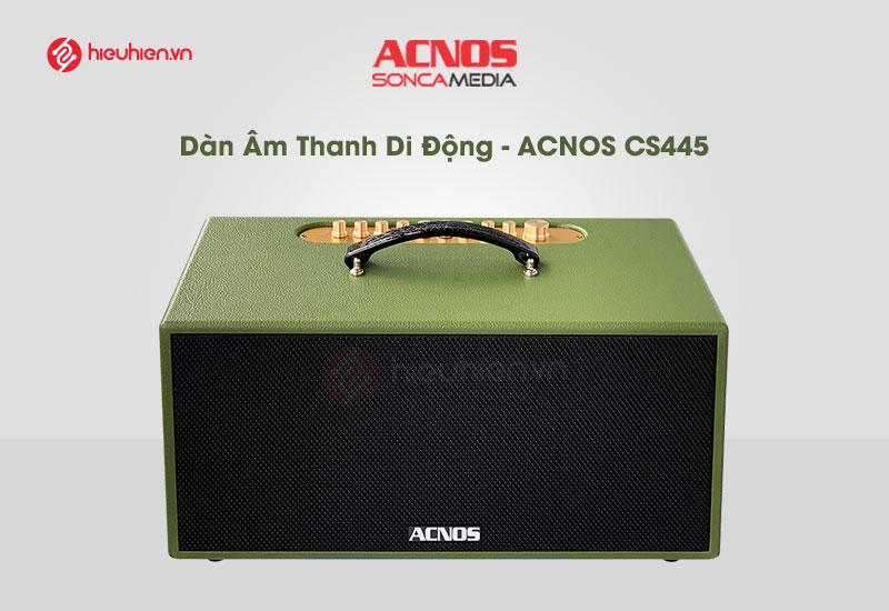 top 5 dòng loa hát karaoke hay và tốt nhất hiện nay - loa karaoke acnos cs455 màu xanh