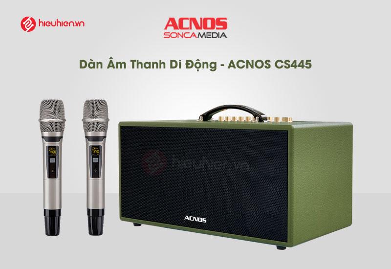 top 5 dòng loa hát karaoke hay và tốt nhất hiện nay - loa karaoke acnos cs455 kèm 2 micro