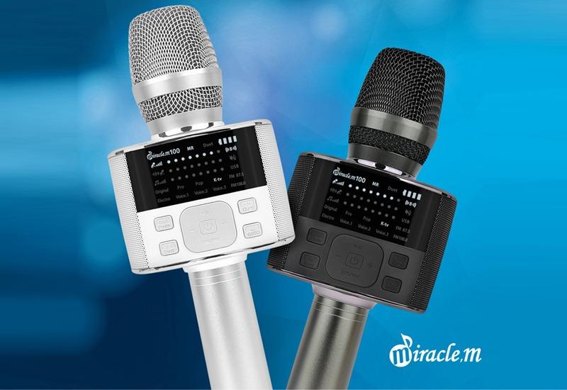 top 7 mẫu micro karaoke kèm loa bluetooth hay nhất hiện nay - miracle m100