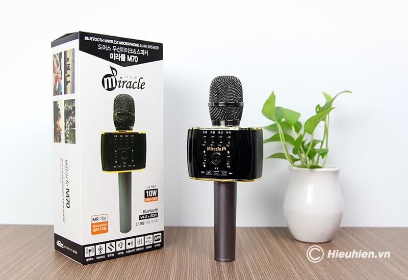 top 7 mẫu micro karaoke kèm loa bluetooth hay nhất hiện nay - miracle m70