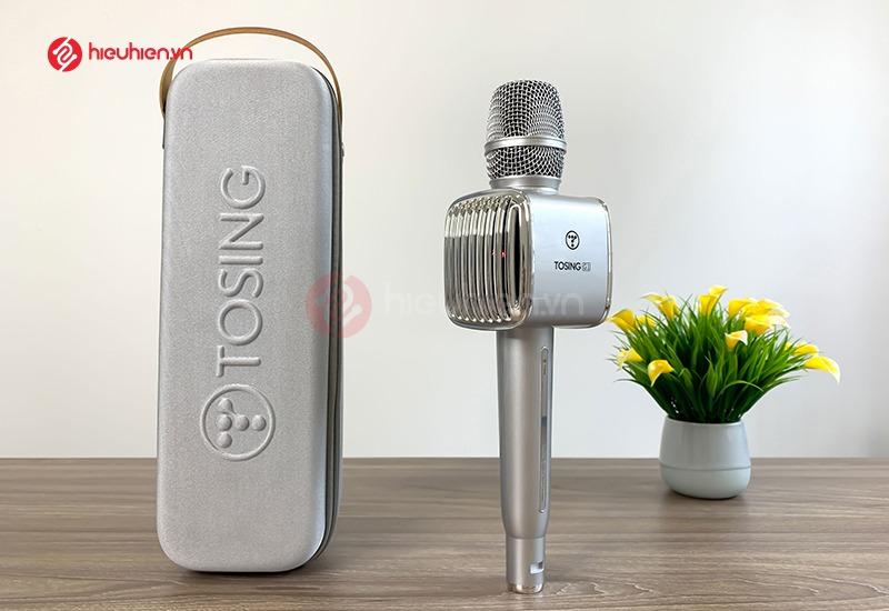 top 7 mẫu micro karaoke kèm loa bluetooth hay nhất hiện nay - tosing g1 màu bạc