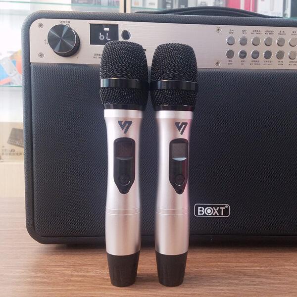 loa kéo boxt q9s chính hãng - micro hát nhẹ, chống hú tốt