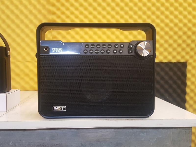 loa karaoke di động boxt q7 mặt lưới